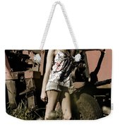 On The Farm At Dusk Weekender Tote Bag
