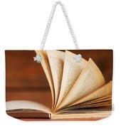 Open Book In Retro Style Weekender Tote Bag by Michal Bednarek