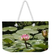 1 Open Pink Lily And 1 Opening... Weekender Tote Bag