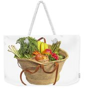 Organic Fruit And Vegetables In Shopping Bag Weekender Tote Bag