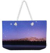 Orion Over Lake Annette Weekender Tote Bag