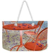Outside Cafe  Weekender Tote Bag