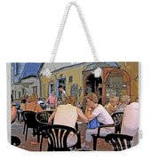 Outside Seating Weekender Tote Bag