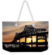 Over The Mississippi Weekender Tote Bag