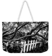 Overflowing A Picket Fence Weekender Tote Bag