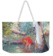Paddling In The Creek Weekender Tote Bag