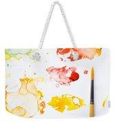 Paint Splatters And Paint Brush Weekender Tote Bag