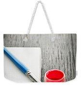 Paintbrush On Canvas Weekender Tote Bag