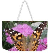 Painted Lady Butterfly Up Close Weekender Tote Bag