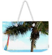 Palm Tree And Sailboat Weekender Tote Bag