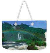Panoramic View Of Iguazu Waterfalls Weekender Tote Bag