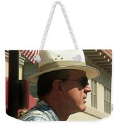 Parade Watcher Flag In Hat July 4th Prescott Arizona 2002 Weekender Tote Bag