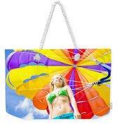 Parasailing On Summer Vacation Weekender Tote Bag