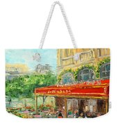 Paris Cafe Weekender Tote Bag