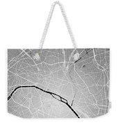 Paris Street Map - Paris France Road Map Art On Colored Backgrou Weekender Tote Bag