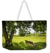 Park Bench Under Tree Weekender Tote Bag by Elena Elisseeva