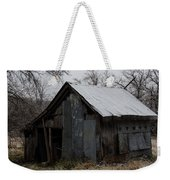Patchwork Barn With Icicles Weekender Tote Bag