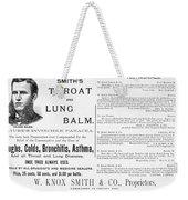 Patent Medicine Ad, 1887 Weekender Tote Bag