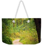 Pathway In The Woods Weekender Tote Bag