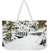 Pathway Through The Snow Weekender Tote Bag