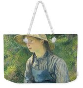 Peasant Girl With A Straw Hat Weekender Tote Bag
