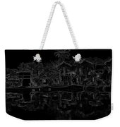 Pencil - View Of The Cottages And Lagoon Water Weekender Tote Bag