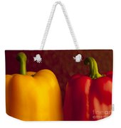 Peppers Still Life Close-up Weekender Tote Bag