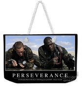 Perseverance Inspirational Quote Weekender Tote Bag