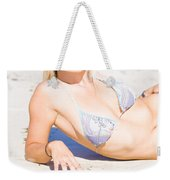 Person On Summer Holidays Weekender Tote Bag