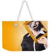 Person Setting Their Social Media Profile Picture Weekender Tote Bag