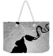 Perth Street Map - Perth Australia Road Map Art On Colored Backg Weekender Tote Bag