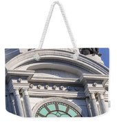 Philadelphia City Hall Clock Weekender Tote Bag