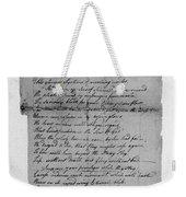 Phillis Wheatley (1753?-1784) Weekender Tote Bag