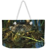Pied-billed Grebe Nesting Texas Weekender Tote Bag