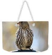Pine Siskin Weekender Tote Bag