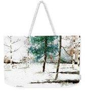 Pine Woods Weekender Tote Bag