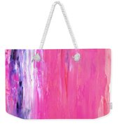 Girl Time - Pink And Purple Abstract Art Painting Weekender Tote Bag