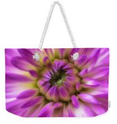 Pink Dahlia Close Up Weekender Tote Bag