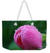 Pink Rain Drops Weekender Tote Bag