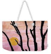 Pink - Sunrise Drawing Weekender Tote Bag