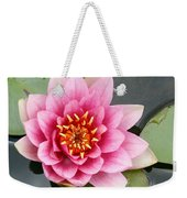 Pink Waterlily Weekender Tote Bag