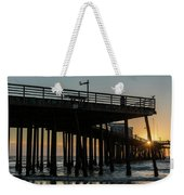 Pismo Beach Pier At Sunset, San Luis Weekender Tote Bag