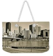 Pittsburgh In Sepia Weekender Tote Bag