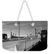 Pittsburgh - Roberto Clemente Bridge Weekender Tote Bag by Frank Romeo