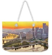 Pittsburgh Sunrise Panorama Weekender Tote Bag