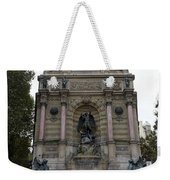Place Saint-michel Statue And Fountain In Paris France Weekender Tote Bag