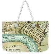 Plan Of New Orleans, 1798 Weekender Tote Bag