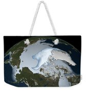 Planet Earth Showing Sea Ice Coverage Weekender Tote Bag