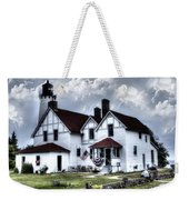 Point Iroquois Lighthouse Michigan Weekender Tote Bag