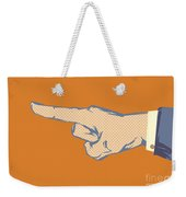 Pointing Finger Vector Weekender Tote Bag